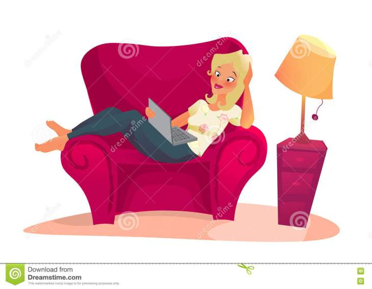 Woman on sofa dreamtime image