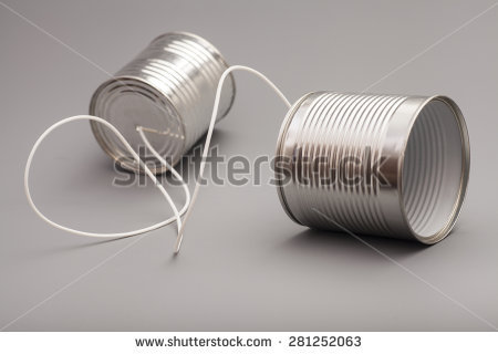 communication tin cans