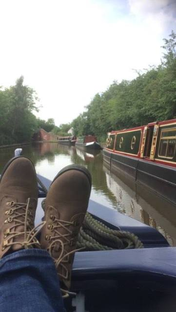 Gill Fell Boots up Canal midlands