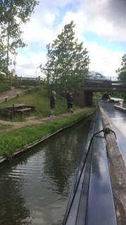 Midlands Canal trip Darren waves
