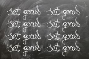 Time Management - set goals blackboard