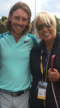 Tommy Fleetwood and Gill Fell