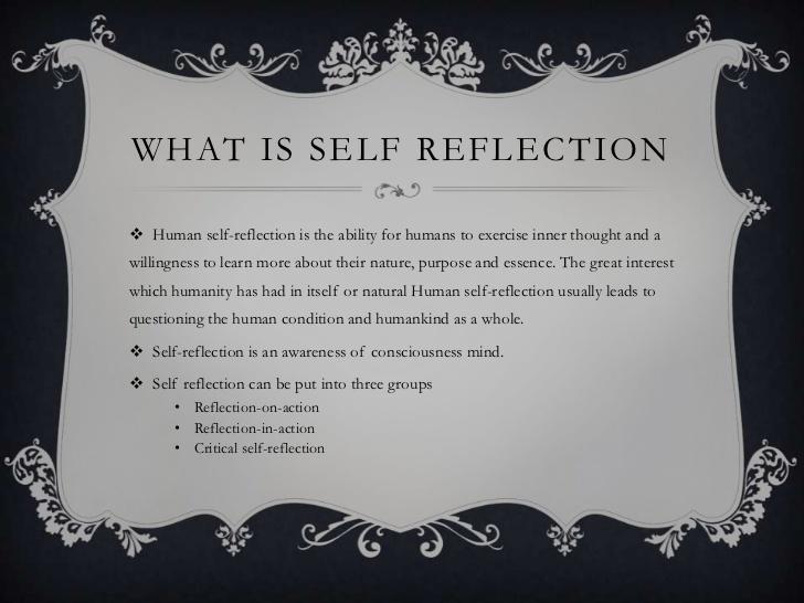 Self reflection 4