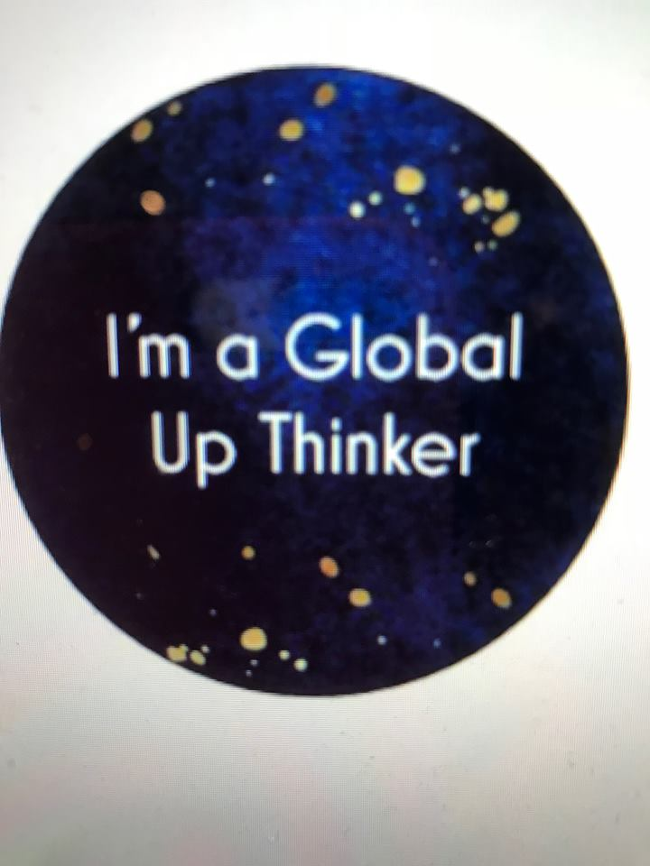 Global Up Thinking = sticker