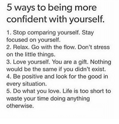 Ways to be confident