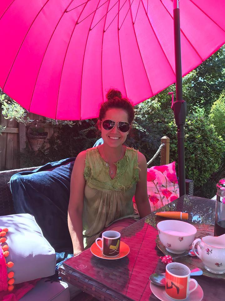Adriana in the garden