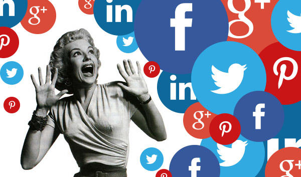 Social media woman